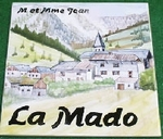 CERAMIC PLATE HOUSE ADDRESS PLAQUE WITH MOUNTAIN DECOR