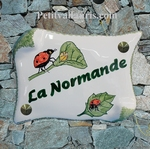 HOUSE PLAQUE PARCHMENT SMALL MODEL LADYBIRD PAINTING