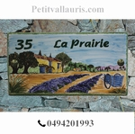 HOUSE PLAQUE RECTANGLE MODEL COUNTRY HOUSE AND CHARET PAINT