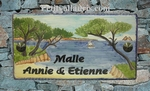 PLAQUE EMAILLEE DE MAISON RECTANGLE DECOR ILOTS LES 2 FRERES