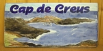 PLAQUE RECTANGLE CERAMIQUE DECOR CAP DE CREUS (ESPAGNE)