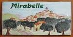 PLAQUE DE MAISON RECTANGLE DECOR VILLAGE HAUT COLLINE