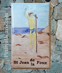 CERAMIC HOUSE PLAQUE RECTANGLE MODEL SAINT-JEAN PAINT
