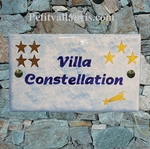 HOME PLAQUE RECTANGLE MODEL STAR AND SHOOTING STAR DECOR