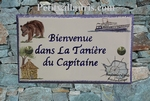 HOUSE PLAQUE FAIENCE OURS-BOAT-AFRICA HOUSE-ANTARTICA