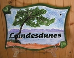 PLAQUE PARCHEMIN GRAND MODELE DECOR MASSIF ESTEREL