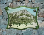 PLAQUE PARCHEMIN GRAND MODELE DECOR MASSIF DU COUDON