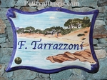 PLAQUE PARCHEMIN GRAND MODELE DECOR PLAGE PALOMBAGGIA-CORSE
