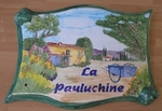 PLAQUE PARCHEMIN GRAND MODELE DECOR MAS ET CHARETTE