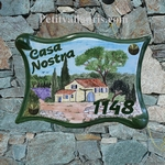 PLAQUE PARCHEMIN GRAND MODELE DECOR BASTIDE PROVENCALE