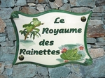 PLAQUE DE MAISON FAIENCE PARCHEMIN DECOR RAINETTE-GRENOUILLE