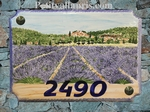 STYLE HOUSE PLAQUE RECTANGLE MODEL LAVENDER FIELD PAINTING