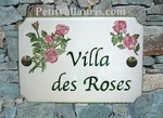 STYLE HOUSE PLAQUE RECTANGLE MODEL BOUQUETS OF ROSES DECOR