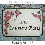 STYLE HOUSE PLAQUE RECTANGLE MODEL PINK  BAY-TREES PAINTING