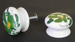 BUTTON DRAWER D35 (SIZE AND FIXING STANDART) GREEN FLOWER
