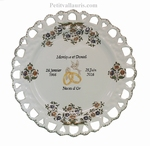 MARRIAGE PLATE SUNFLOWER MODEL OLD MOUSTIERS DECOR TRADITION