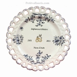 BIRTHDAY MARRIAGE PLATE SUNFLOWER MODEL BLUE COLOR
