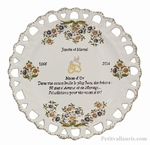 MARRIAGE PLATE SUNFLOWER MODEL WITH CUSTOMIZED WEDDING POEM