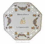 MARRIAGE PLATE OCTAGONAL SMALL SIZE MODEL POLYCHROME COLOR