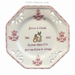 MARRIAGE PLATE OCTAGONAL SMALL SIZE MODEL PINK COLOR PK