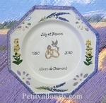 MARRIAGE PLATE OCTAGONAL MODEL LAVANDER AND GENTIANE DECOR