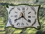 CLOCK FOR BIRTHDAY OF MARRIAGE GREEN COLOR (PARCHMENT MODEL)