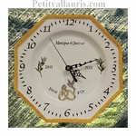 CUSTOMIZED CLOCK FOR WEDDING OR MARRIAGE PROVENCAL FLORE