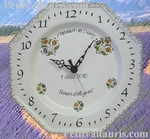 CUSTOMIZED CLOCK FOR WEDDING OR MARRIAGE (OCTAGONAL MODEL)