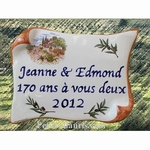 CERAMIC HOUSE PLAQUE PARCHMENT FOR WEDDING AND NOCES