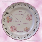 CERAMIC CUSTOMIZED STYLE PLATE FOR MEMORY LITTLE GIRL BIRTH