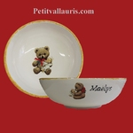 SOUP PLATE TEDDY-BEAR DECORATION WITH  CUSTOMIZE TEXT