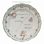 STYLE PLATE FOR MEMORY BIRTH WITH ANGELS PAINTING GREEN BORD