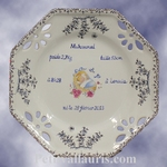 LITTLE PLATE OCTAGONAL MODEL FOR BOY BIRD CELEBRATION