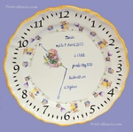 CUSTOMIZED BOYS BIRTH PLATE MEMORY LITTLE MOUSE DECORATION