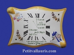HORLOGE PARCHEMIN DECORATIVE SOUVENIR DE NAISSANCE BD ORANGE
