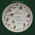 ASSIETTE PORCELAINE NAISSANCE DECOR OURSON + PHOTO PERSO