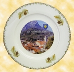 PLATE PORCELAIN MODEL WITH YOUR CITY PHOTO INSIDE
