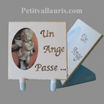 MORTUARY PLAQUE TO PUT MODEL LITTLE WITH ANGEL DECORATION