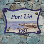 PLAQUE DE MAISON MODELE PARCHEMIN DECOR LITTORAL LE CROIZIC