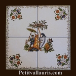 DECORATION SUR CARRELAGE 20 X 20 CARREAUX DE 10 cm