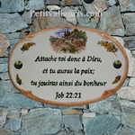 HOUSE PLAQUE OVAL MODEL OLIVE-TREE AND PROVENCE COTTAGE