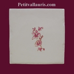 LITTLE FLOWER PINK OLD MOUSTIERS TRADITION DECOR ON TILE