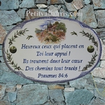 HOUSE PLAQUE OVAL MODEL OLIVE-TREE AND PROVENCE HOUSE