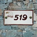 CERAMIC HOUSE PLAQUE MODEL 10 X 20 EAGLE PAINTING