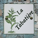 CERAMIC CUSTOMIZED HOME PLAQUE TABACCO PLANT DECOR