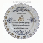 EMERALD WEDDING CERAMIC PLATE SUNFLOWER MODEL WITH POEM