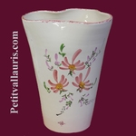 VASE GLAIEUL PINK FLOWERS DECORATION HEIGHT 25 CM