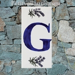 HOME ADDRESS PLATE LETTER (G) TO UNIT LAVENDERS DECORATION