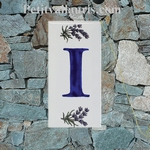 HOME ADDRESS PLATE LETTER (I) TO UNIT LAVENDERS DECORATION