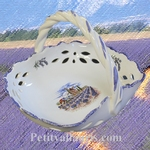 CERAMIC PANNIER WITH PROVENCE + LAVANDER DECORATION